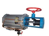 闸阀气动带侧装手动气缸